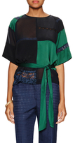 Paul Smith Colorblocked Belted Top with Lace Trim