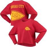 G Iii Women's G-III 4Her by Carl Banks Red Kansas City Chiefs Flight Song Crop Long Sleeve T-Shirt
