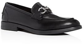 Salvatore Ferragamo Men's Arlin Gancini Bit Leather Apron-Toe Loafers - Wide