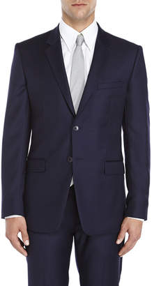 Theory Navy Two-Button Slim Fit Wool Suit Jacket