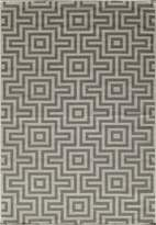Momeni Rugs BAJA0BAJ10GRY1837 Baja Collection, Contemporary Indoor & Outdoor Area Rug, Easy to Clean, UV protected & Fade Resistant