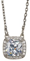 Jessica Simpson Princess & Halo Set CZ Detail Pendant Necklace