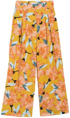 Love + Harmony Floral Button High Waist Pants