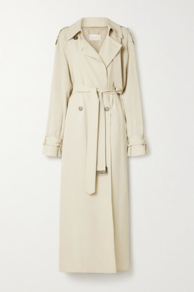 The Row Yeli Belted Double-breasted Woven Trench Coat - Beige