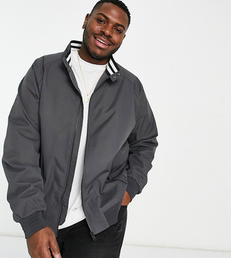 Burton Menswear Big & Tall harrington jacket in grey
