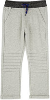Sorry 4 the Mess Mélange-Waist Fleece Sweatpants-GREY