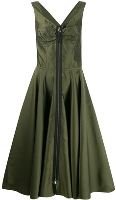 Marni Zipped Flared Midi Dress
