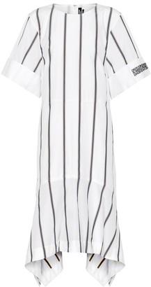 Calvin Klein Striped cotton poplin midi dress
