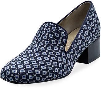 Bettye Muller Concept Breeda Block-Heel Brocade Loafers