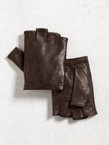 John Varvatos Fingerless Sheepskin Glove