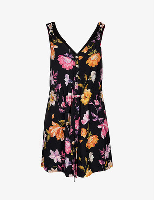 Ted Baker Rhubarb floral-print woven playsuit