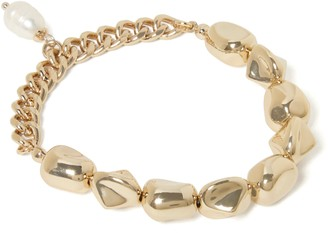 Forever New Roni Stretch Chain Pearl Bracelet - Gold & Pearl - 00