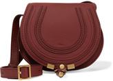 Chloé The Marcie Mini Textured-leather Shoulder Bag - Burgundy