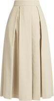 The Row Kanu ultra-soft cotton pleated midi skirt