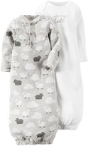 Carter's 2 Pack Sleeper Gowns (Baby) - Heather - One Size