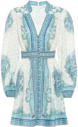 Zimmermann Bells paisley linen minidress