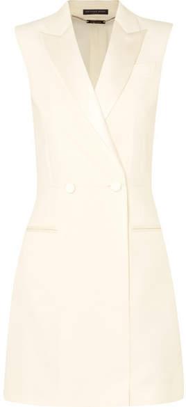 Alexander McQueen Satin-trimmed Wool-blend Cady Mini Dress - Ivory