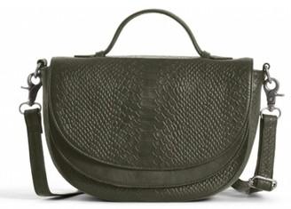 Day & Mood Brandi Top Handle Croc Embossed Leather Crossbody Bag