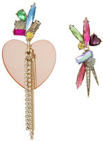 Betsey Johnson Boardwalk Sweets Heart Mismatch Earrings
