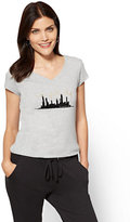 "New York & Co. Glittering ""New York City"" Graphic Logo Tee"