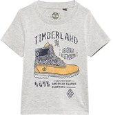 Timberland Grey Shoe Print Tee