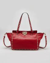 Valentino Rockstud Mini Tote Bag, Red