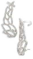 Topshop Women's Crystal Wing Ear Climbers