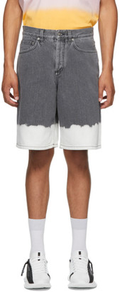 Givenchy Black and White Denim Two-Tone Shorts