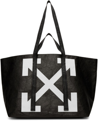 Off-White Off White Black Wrinkled Arrows Commercial Tote