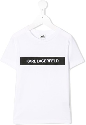 Karl Lagerfeld Paris printed logo T-shirt