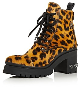 Miu Miu Women's Never Mind Crystal Block Heel Hiking Boots