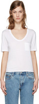Alexander Wang White Jersey Pocket T-Shirt