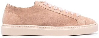 Doucal's Suede-Leather Tonal Trainers