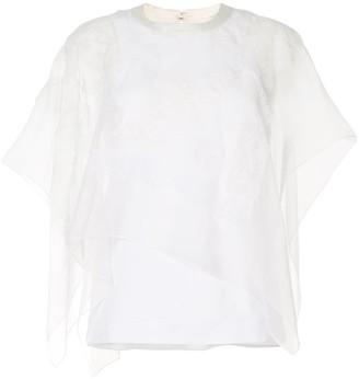 Sacai Lace-Overlay Vest
