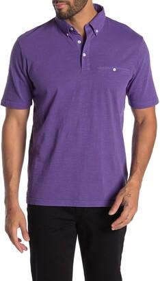 Thomas Dean Regular Fit Slub Garment Dye Polo