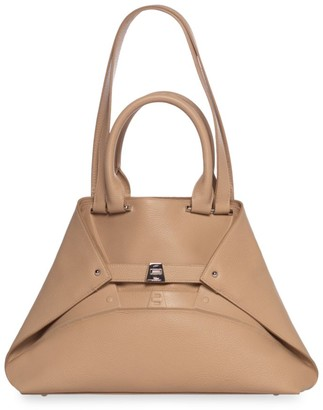 Akris Small Aicon Embossed Leather Tote