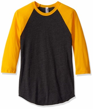 Marky G Apparel Men's Poly-Cotton 3/4-Sleeve Raglan T-Shirt-3 Pack