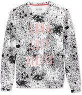 GUESS Men's Roy Embroidered Splatter-Print Cotton Sweatshirt