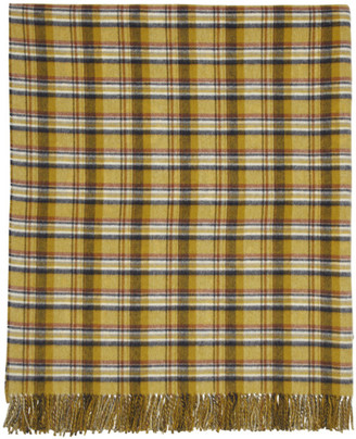 Gucci Reversible Yellow and Blue GG Wool Poncho