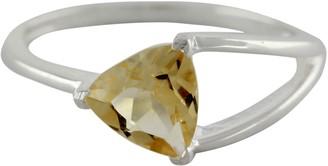Novica Artisan Crafted Sterling Citrine Ring