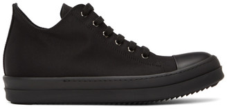Rick Owens Black Wax Low-Top Sneakers