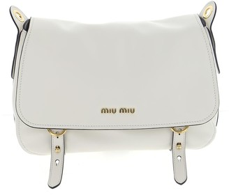Miu Miu Logo Plaque Satchel Bag