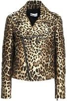RED Valentino Metallic Leopard-jacquard Biker Jacket