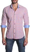 Jared Lang Plaid Long Sleeve Semi-Fitted Shirt