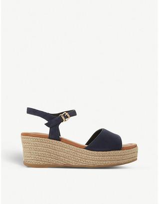 Dune Kadi suede wedge sandals