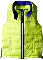 Armani Junior Puffer Vest with Blue Trim Boy's Vest