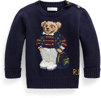 Ralph Lauren Polo Bear Cotton-Blend Jumper