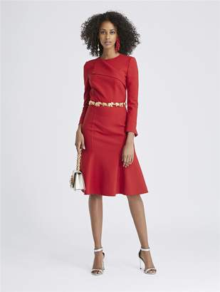 Oscar de la Renta Double-Face Stretch-Wool Dress