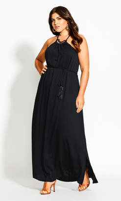 City Chic Fearless Maxi Dress - black
