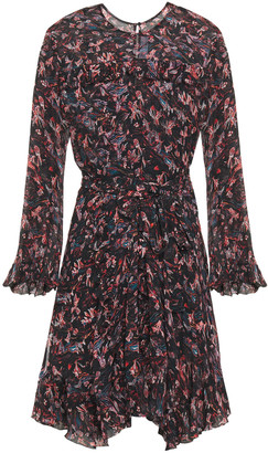 IRO About Ruffled Printed Georgette Mini Dress